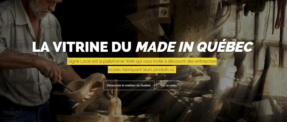 Signé Local, une nouvelle vitrine pour les entrepreneurs québécois